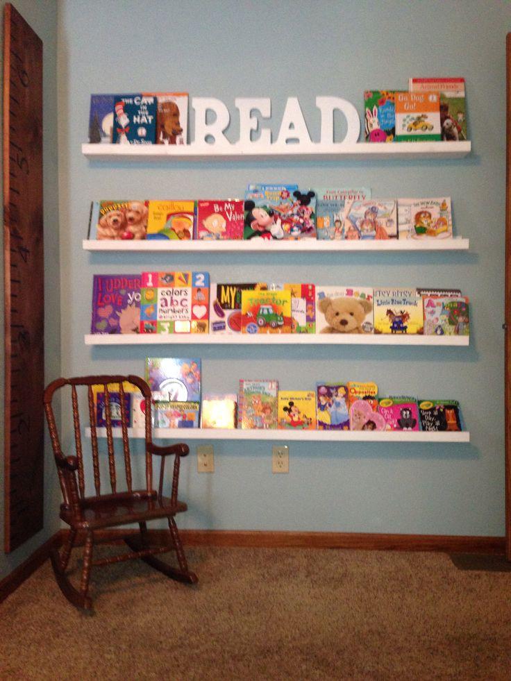 Bookshelves for the playroom