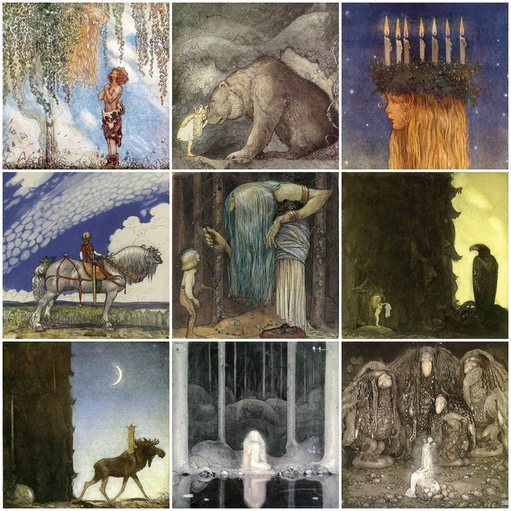 John Bauer Tiles, 4.25, 6 and 8 inch tiles.