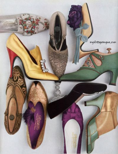 amazing vintage shoes, love the shapes, but those pointy toes are right up by alley!