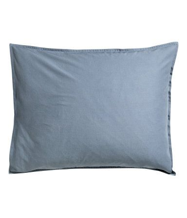 Örngott i tvättad bomull | Duvblå | H&m home | H&M SE