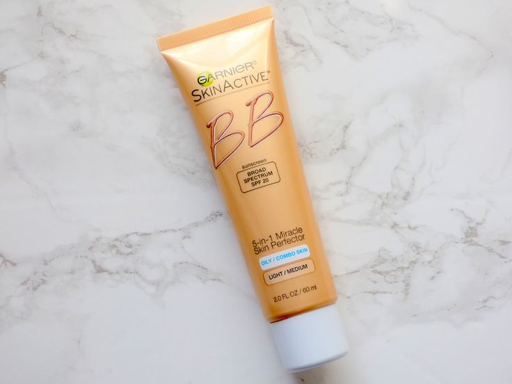 Garnier BB Cream for Oily/Combo Skin in Light/Medium. First BB cream I've tried- also the first Garnier skin product I've tried. I really like this. It's liquid-y and kind of runny but it does what it says it'll do.