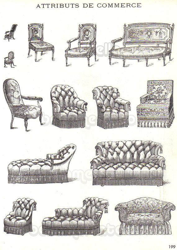Vintage French Furniture Book, French Furniture Styles