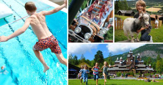 Sommerpakke 2 netter Hunderfossen Familiepark