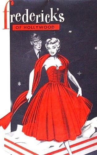 1954 Vintage Fredericks of Hollywood Christmas  Lingerie