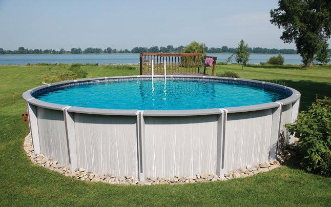 39 Best Images About Pool On Pinterest Ladder Landscaping And Above Ground Pool Landscaping