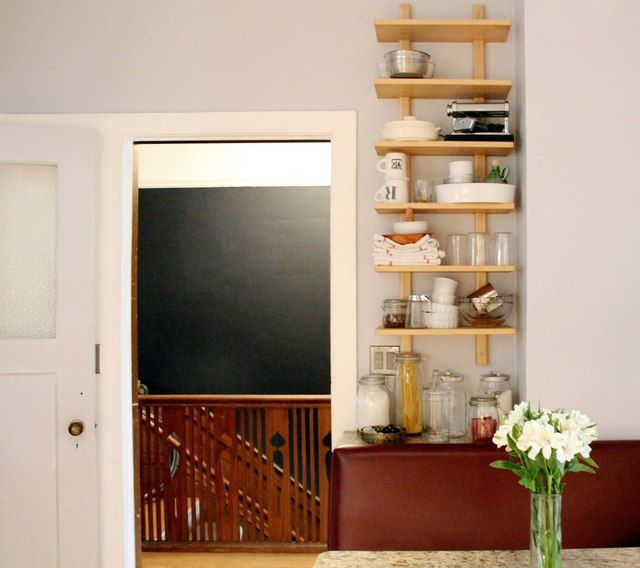 Apartment Therapy Kitchen Shelves: Erin & Rob's Stylish & Glam Family Pad