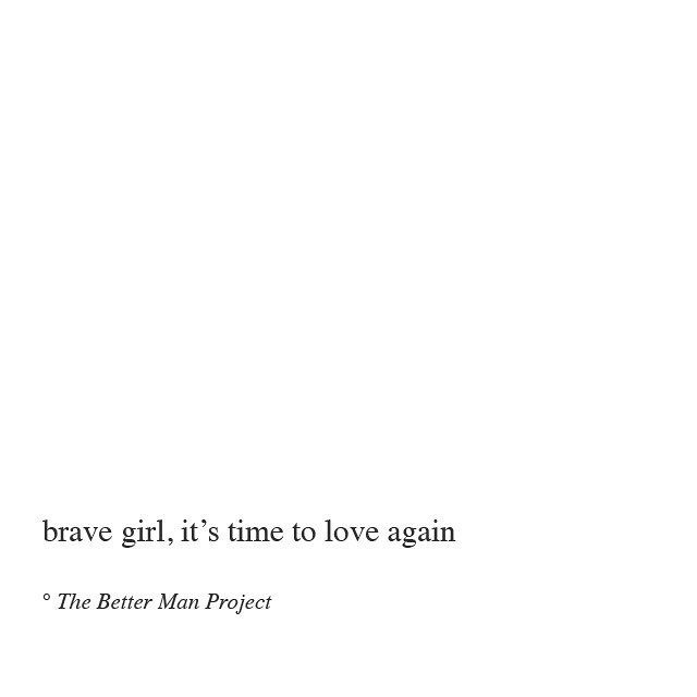 it's time to love again