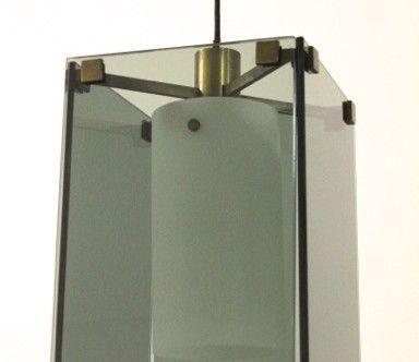Max Ingrand, lampada a sospensione Fontana Arte anni '60 nero design arezzo 1