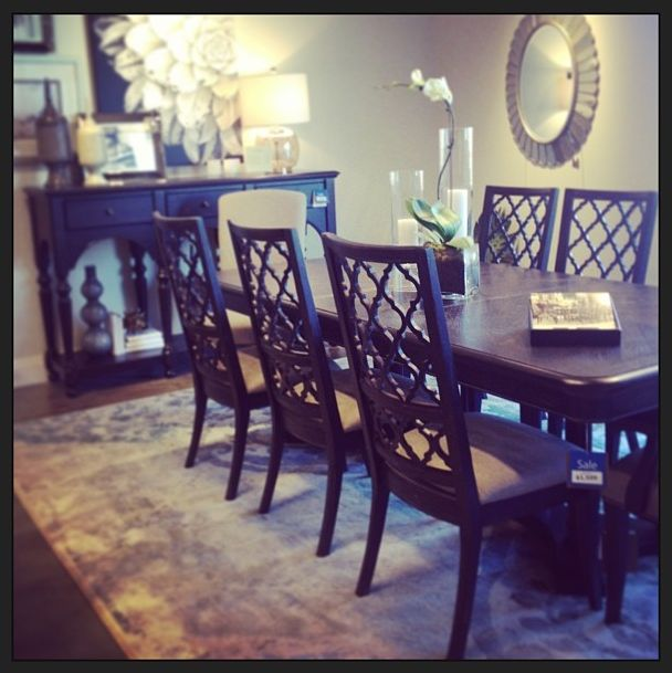 Emporium Dining Room @Bassett Furniture #diningchairs