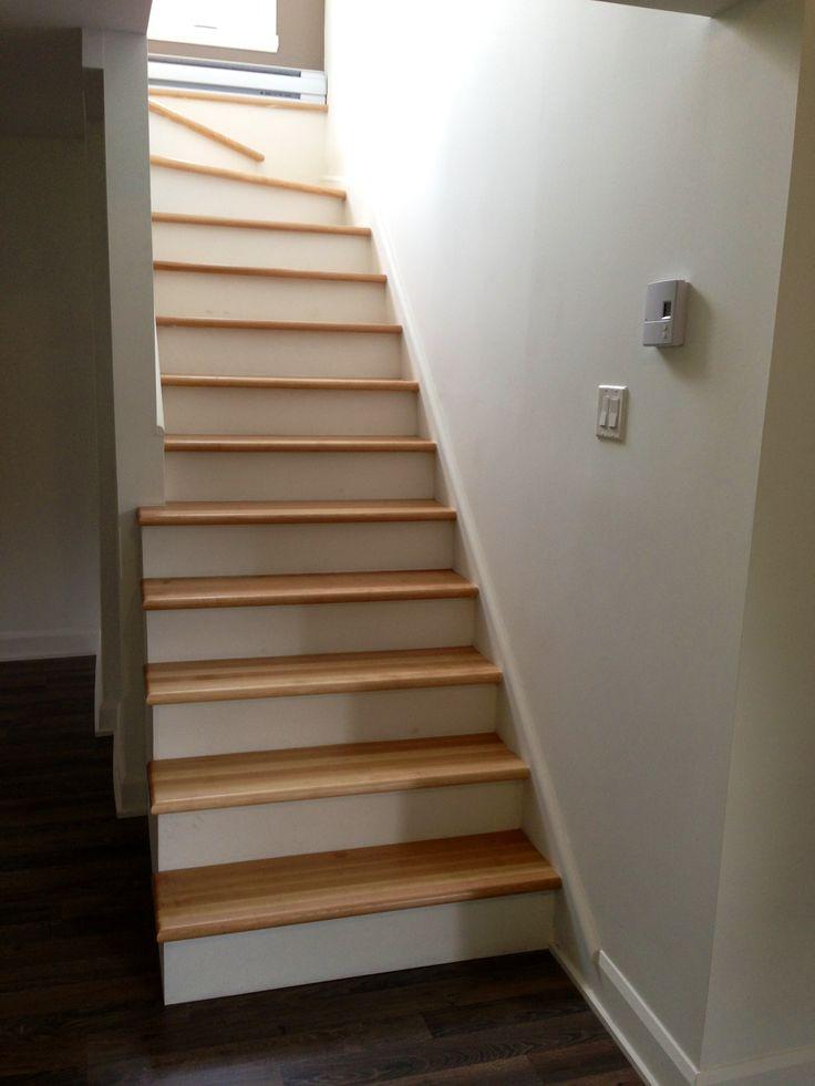 Les 25 meilleures id es concernant escalier en bois franc - Marche escalier bois ...
