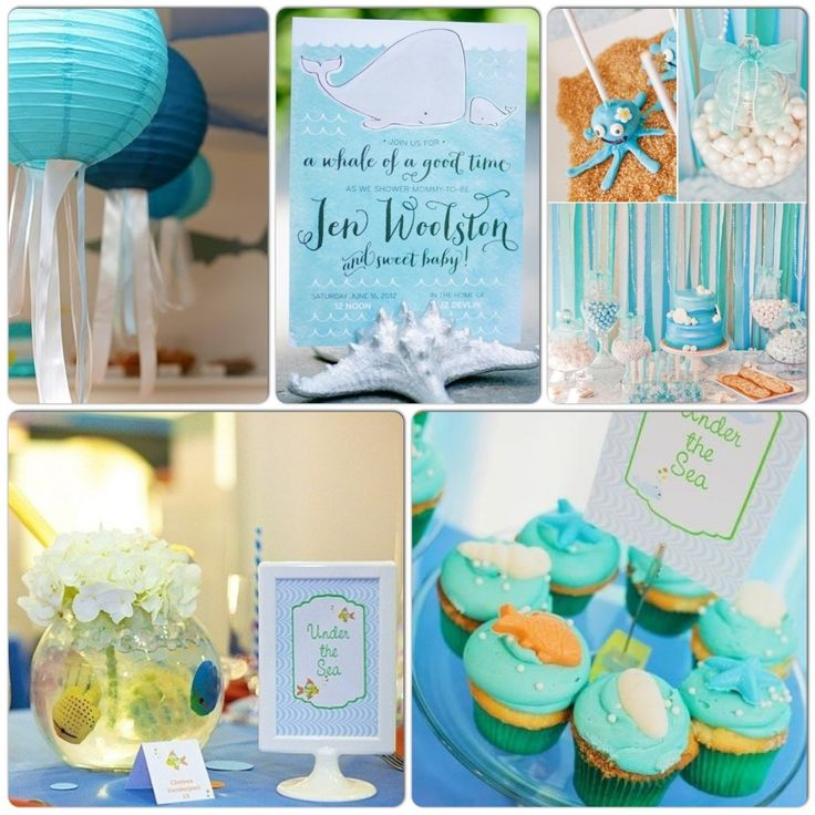 Under the sea themed baby shower ideas