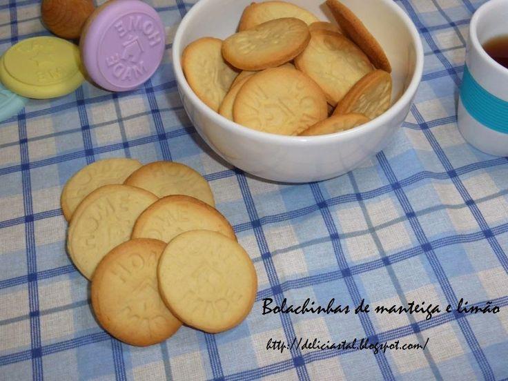 Delicias & Tal: Bolachinhas de manteiga e limão