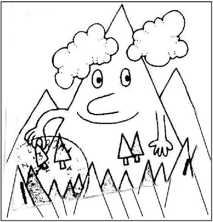 La montagna disegni da colorare geografia pinterest - Immagini da colorare delle montagne ...