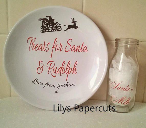 Christmas Eve Set Santa's Milk Rudolph Milk Bottle