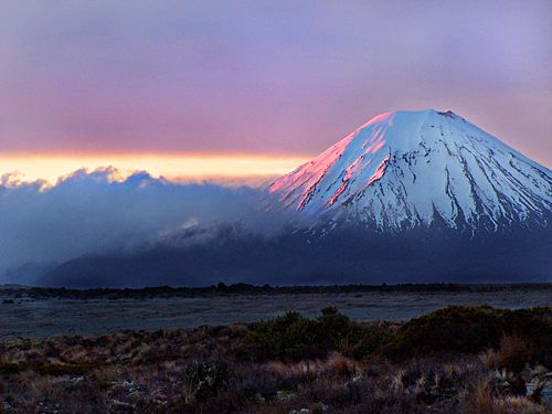 """Heres some Monday magic to brighten up your week! #MtNgauruhoe is around 2,500 years old and is the youngest of the three volcanoes in the Tongariro National Park. Its relative youth gives rise to a more regular volcano shape with steep slopes. Mount Ngauruhoe made its big film debut as the evil 'Mount Doom' in Peter Jackson's Lord of the Rings trilogy. """"Super extraordinary and mind blowing Summer or Winter!"""" http://www.visitruapehu.com/new-zealand/Mt-Ngauruhoe/ #LOTR"""