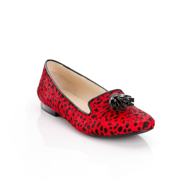 Red Dalmatian loafers: Kathy, Fashion, Style, Red Shoes, Flat Shoes, Flats, Fun, Red Leopard, Leopard Prints