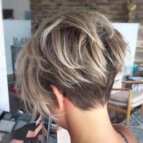 Like length of back, neat undercut under long razored layers