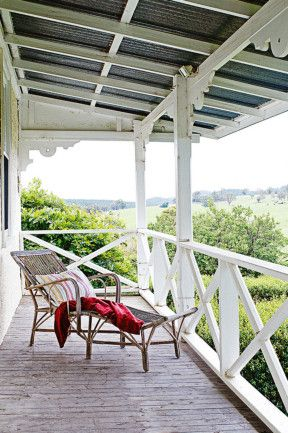 The Second Storey Verandah With Beautiful Views Of Surrounding Farms And Forest Essington Park Country HomesCountry LifeRestorationThe