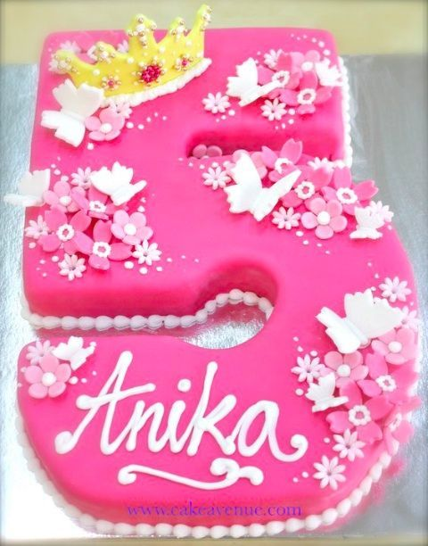 Image result for number five birthday cake