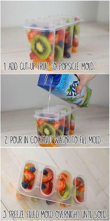 teenshealthandfitness: Healthy fruit Popsicles! https://Teenshealthandfitness.Tumblr.Com