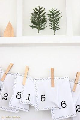DIY und Step by Step Tutorial für selbst gebastelten Adventskalender aus genähten Papiertüten by kebo homing advent calendar