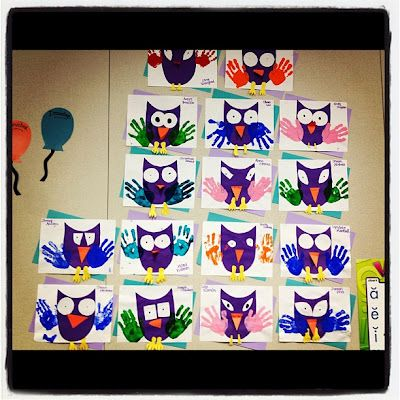 Easy owl projects for the classroom! Do during open house to put on front door?