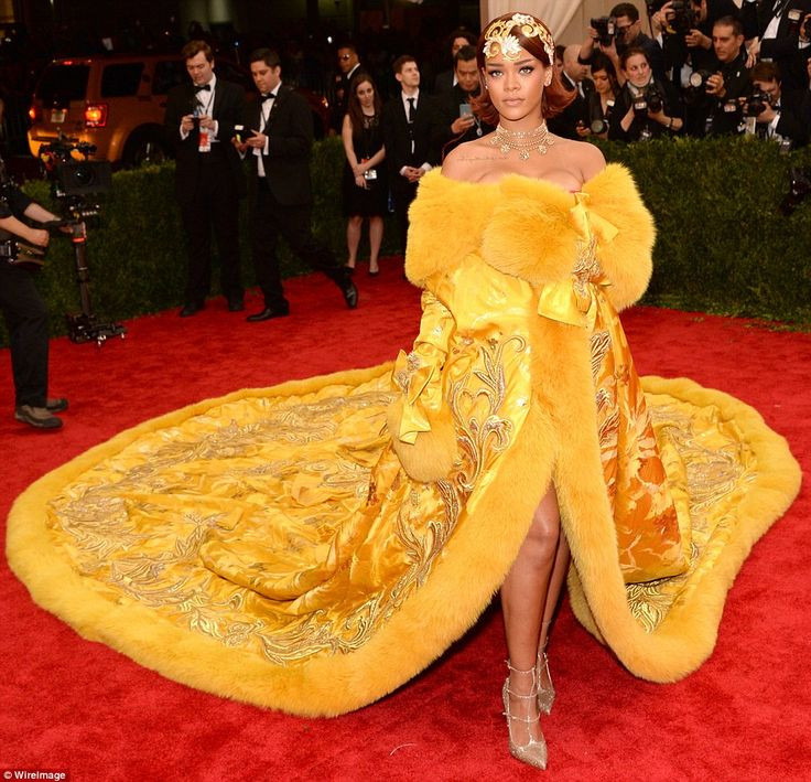 Turning every head: Rihanna made sure that she left a lasting impression as she made her a...