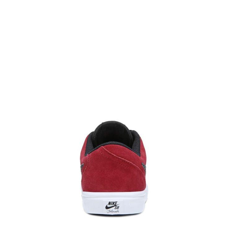 Nike Men's Nike SB Check Solar Suede Skate Shoes (Team Red/Black) - 11.0 M