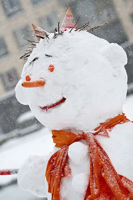 Snowman in Rotterdam! The expression1