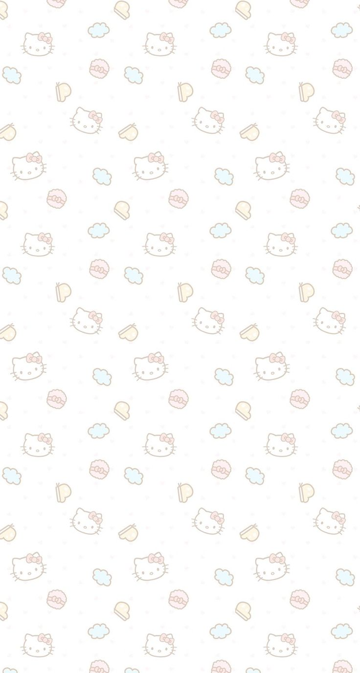 #pink #wallpaper #doodle #pattern #sweet #girly #cute #background #iphone #hd #hk #hello #kitty #neutral #colors