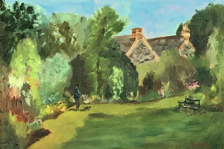 Buy Dog walking at Northdown Park - An original oil painting! Lovely gift!, Oil painting by Julian Lovegrove Art on Artfinder. Discover thousands of other original paintings, prints, sculptures and photography from independent artists.