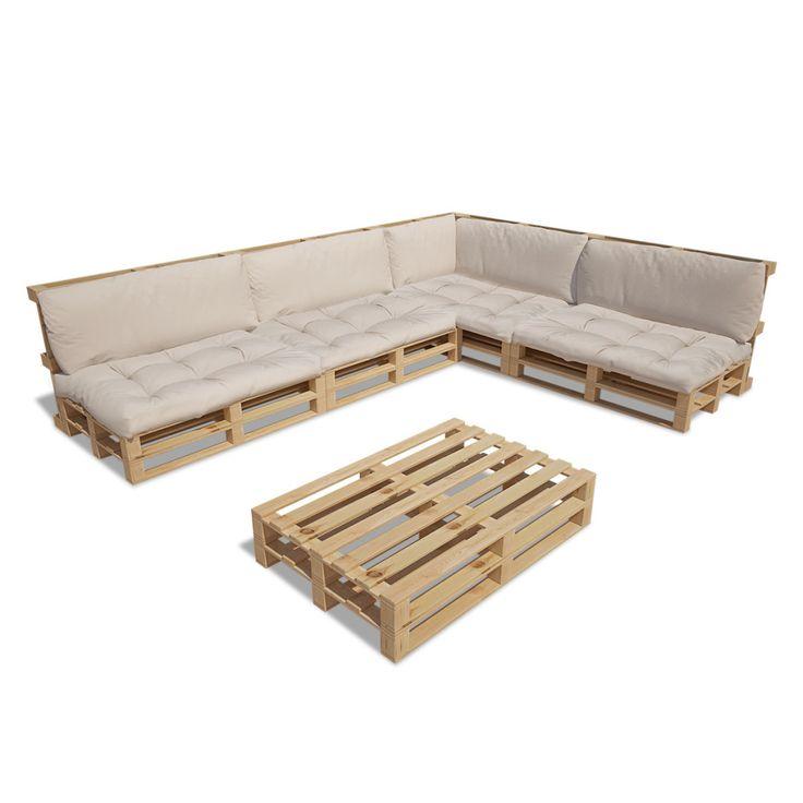 vidaXL 15-tlg. Außen Lounge Set aus Holzpaletten mit 9 Kissen S kaufen
