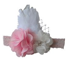1920s Inspired Pink Lace Headband.  Pretty in Pink and lace and ribbon - such pretty Lace Flower Girl Headbands.  Lost of styles available from $25.00. www.miemporium.com.au