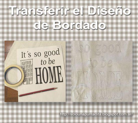 Sólo una puntadita...: Como transferir un diseño de bordado. Tutorial para transferir a una tela un diseño para bordar usando el método del calcado.