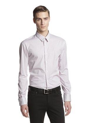 76% OFF Versace Collection Men's Geo Print Woven Shirt (Pink)