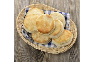 Biscuit recipes usually call for baking soda and baking powder to make the dough rise, resulting in fluffy, soft biscuits, while shortening is a common ingredient that results in a flaky, flavorful crust. Without a leavening agent, the biscuits won't rise and will more closely resemble pancakes than biscuits. Without fat, the biscuits lack flavor....