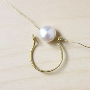 Wire Wrapped Pearl Ring DIY