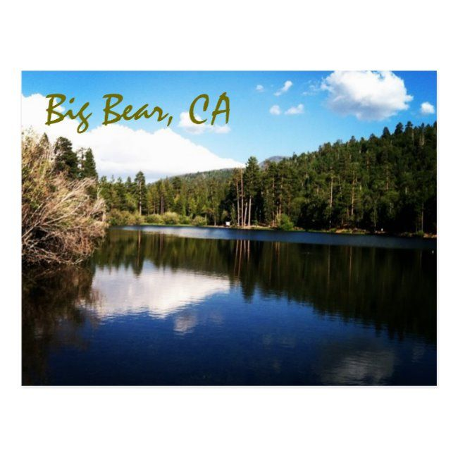 Big Bear Ca Postcard Zazzle Com Big Bear Postcard Mountain Images
