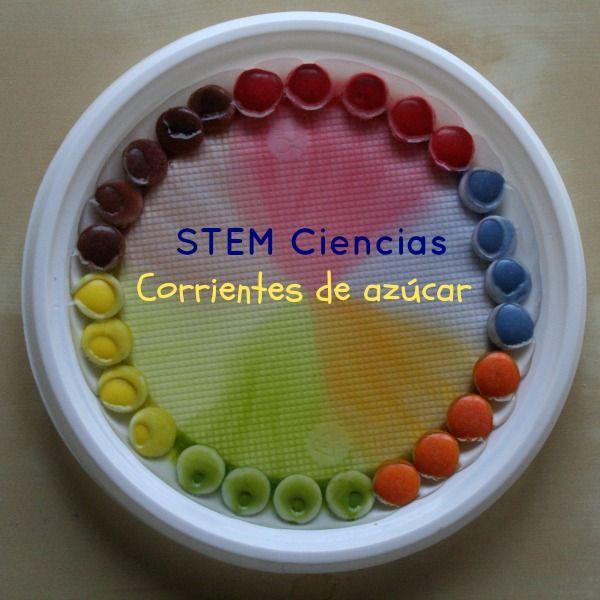 Corrientes de azúcar: experimento de densidades con Lacasitos