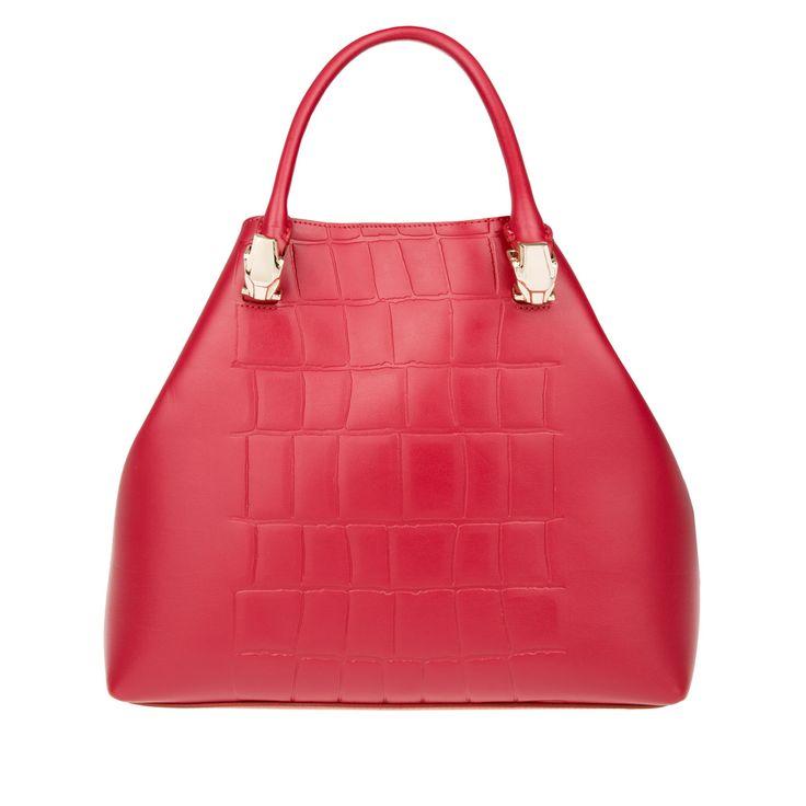 Class Cavalli Panthera Satchel Bag Red, Markentaschen