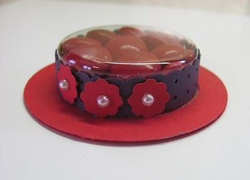 Red Hat Society Hat favors  http://www.starzlstamps.com/2014/04/red-hat-society-hat-favors-1.html