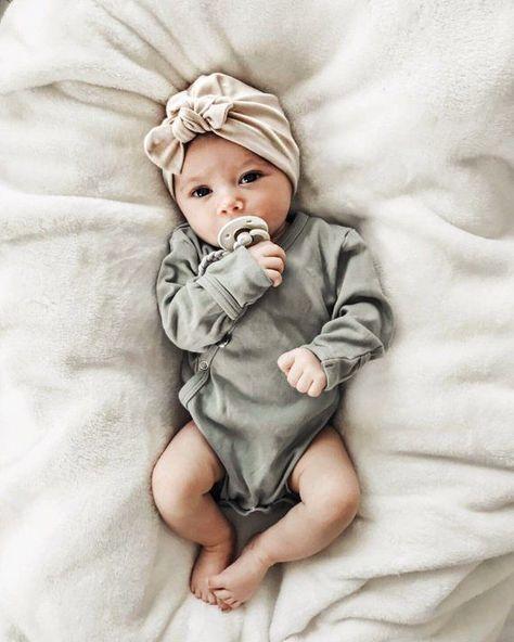 Hut mit Hafer: Hut (Mädchen) für Baby Baby Turban Hut   – B A B Y // O H  B A B Y