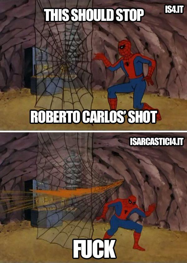 Spiderman Meme Funny Junk : Spiderman vs roberto carlos meme football soccer