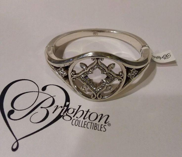 NWT Brighton Morena Hinged Bracelet with Swarovski Crystals JB7682 #Brighton #Bangle