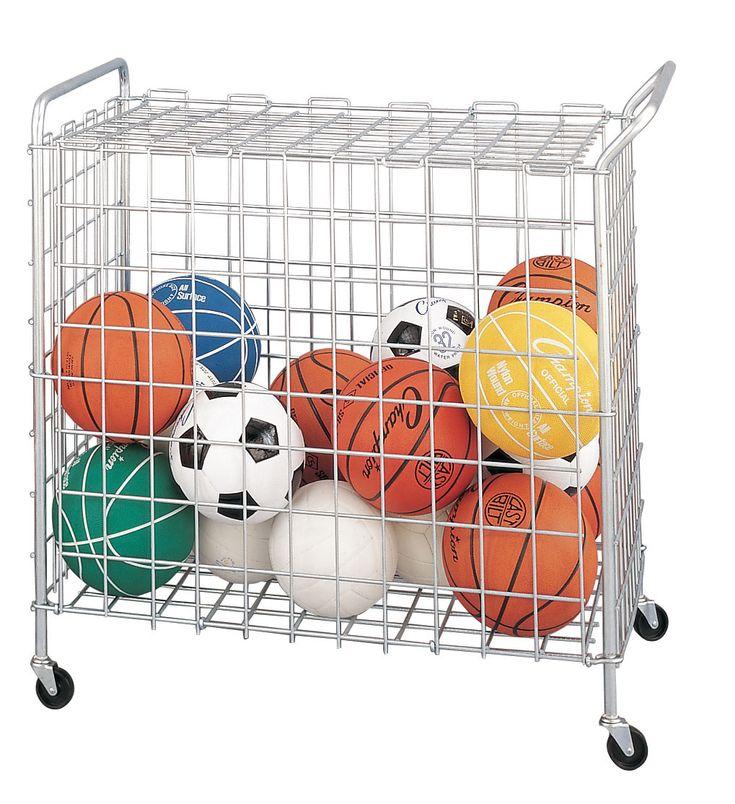 Physical Education: Storage Carts U0026 Lockersu003e Ball Cartu003e Portable ...