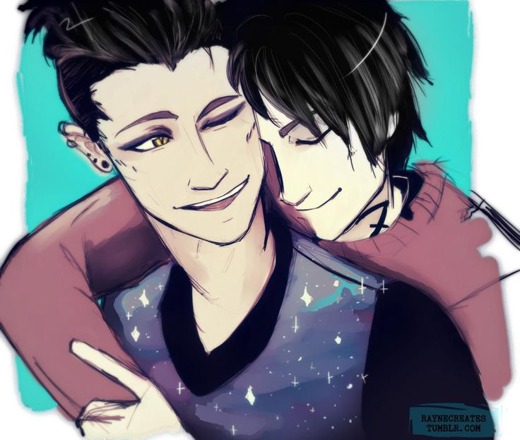 FANART: Malec by @/Raynecreates. Characters by @/cassieclare. #MalecWeek is a blessing!