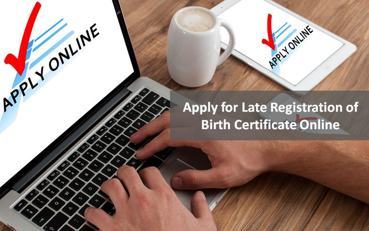 Apply for Late Registration of Birth Certificate Online