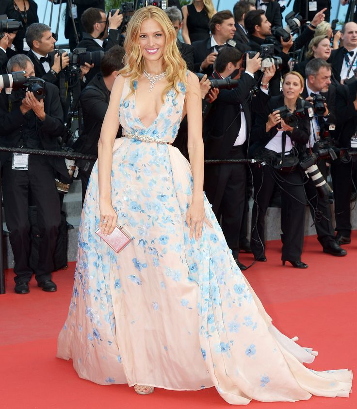 Meet Pantone's Color(s) of the Year 2016: Rose Quartz and Serenity - Petra Nemcova at Cannes Film Festival in May 2015  - from InStyle.com:
