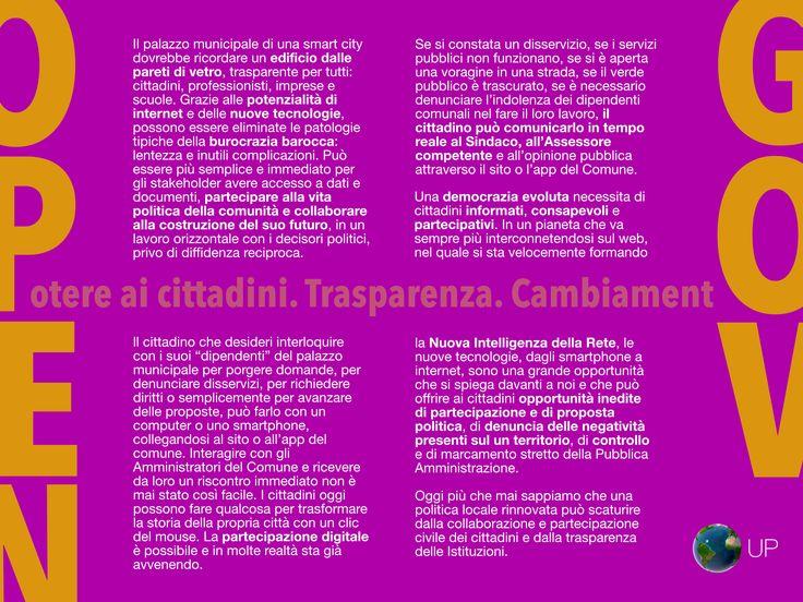 Open Government: OPEN GOVERNMENT Potere ai cittadini. Trasparenza. Cambiamento.