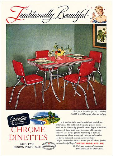Virtue Brothers Furniture Ad, 1950 | Flickr - Photo Sharing!